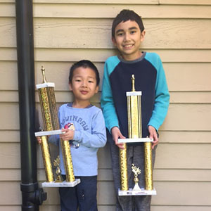 Students Earn Trophies at the 2018 Washington State Elementary Chess Tournament